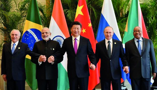 The BRICS leaders in 2016.