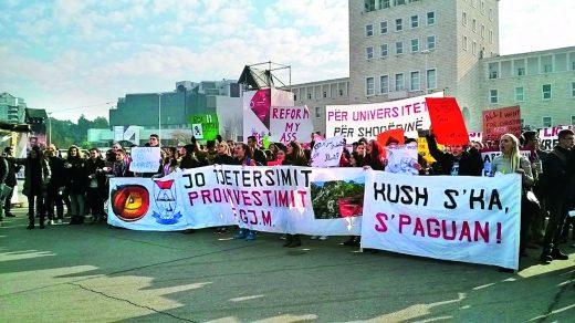Albanian November, students calling