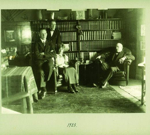 Dr Ludvig Moberg in his home in Djursholm in 1923. Courtesy of the Moberg family.