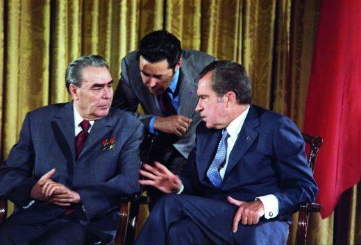 Brezhnev and Nixon, 1973. Photo: Robert L. Knudsen, US Government.