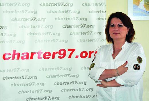 Natallia Radzina, Charter 97.