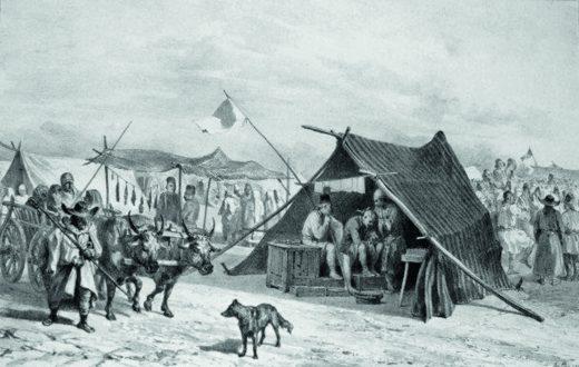 Raffet. Tigani in Giurgiu 11 iulie 1837