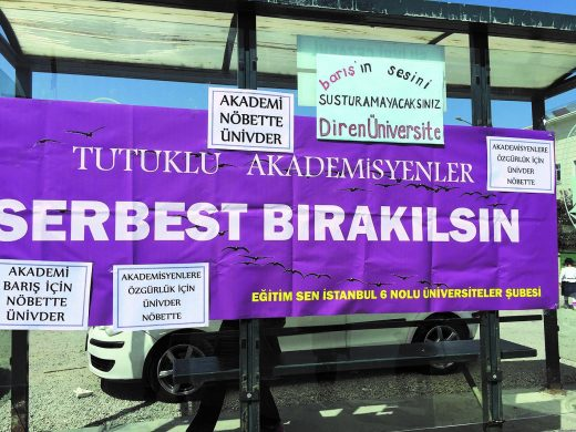 """Banner for the release of """"Arrested inmates""""."""