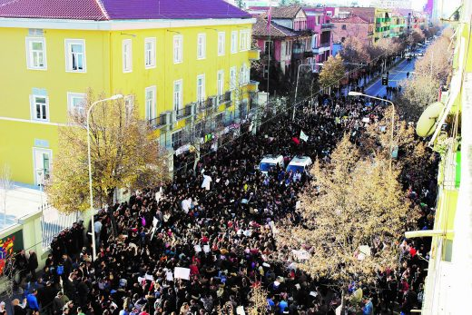 Students' protest in Albania.