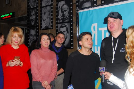 Volodymyr Zelensky at a film release in December 2018.
