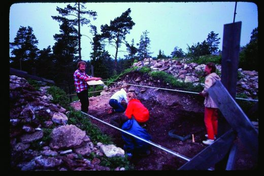 Fig 1. The excavation at Torsburgen, 1982. Photo Johan Hegardt