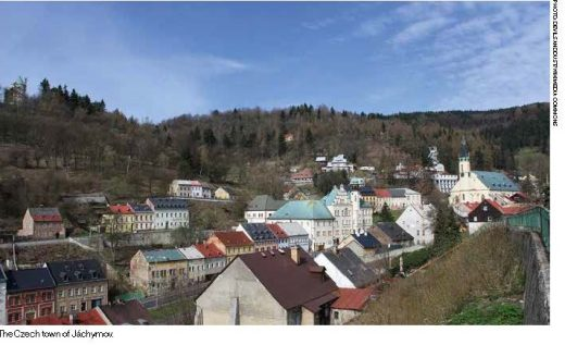 The Czech town of Jáchymov.