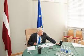Krišjānis Kariņš videoconference Photo: Cabinet of Ministers