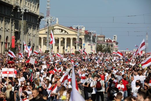 Protest in Minsk, August 2020. Photo: Radio Free Europe