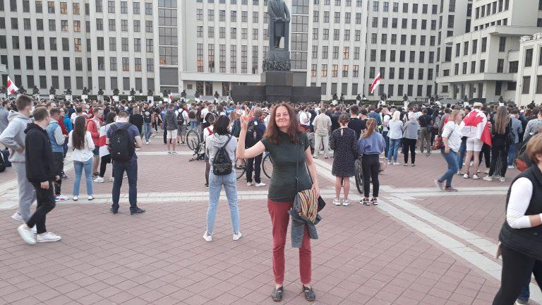 Tatiana Shchyttsova in Minsk August 14, 2020.