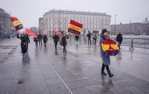 Zuzanna Hertzberg. Nomadic Memory 2017, intervention in public space. Photo.Mikolaj Tym