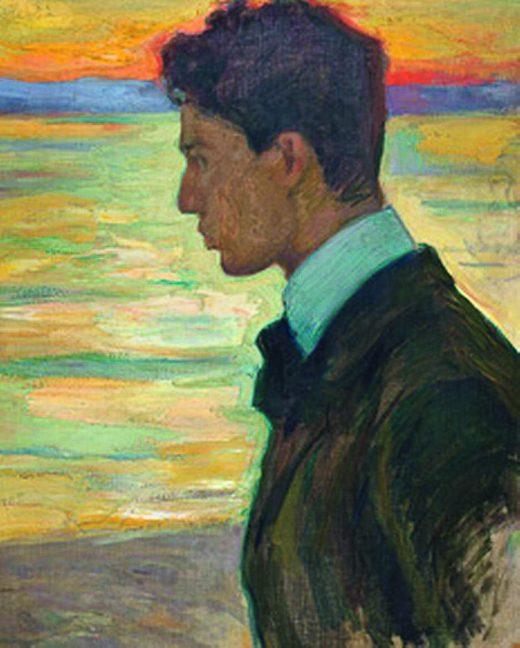 Boris beside the Baltic at Merekule, 1910. Portrait by his father, Leonid Pasternak, oil on canvas.