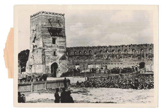 """""""Rebuilding work in progress in Lutsk"""", photo taken by the propagande company 1941"""