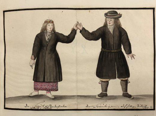Fig. 1 Bride and Groom from the Järva district in Estonia (THC 3418).*