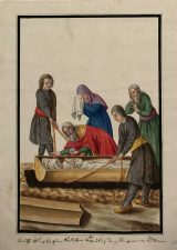 Fig. 3 The last rites as practiced by the common people at a Russian funeral (THC 3461).