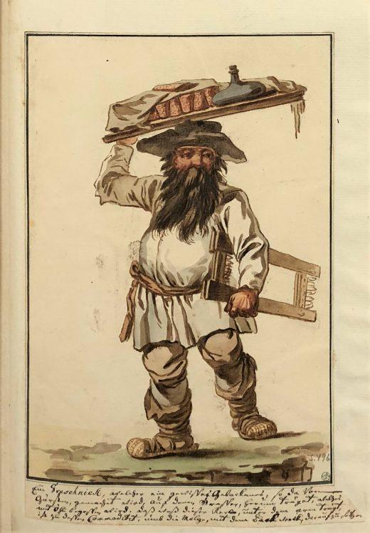 Fig. 4 A seller of buckwheat cakes (grechniki). (THC 3496).*