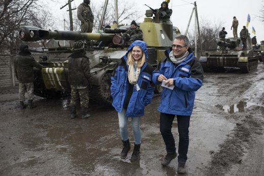 OSCE SMM monitoring the movement of heavy weaponry in eastern Ukraine 2015.